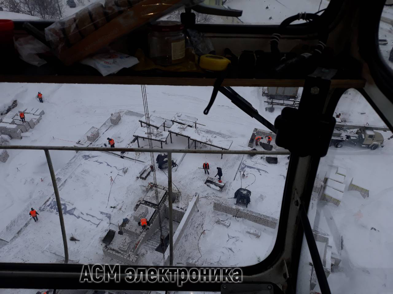 Установка прибора безопасности ПЗК-30 на башенный кран QTZ 125