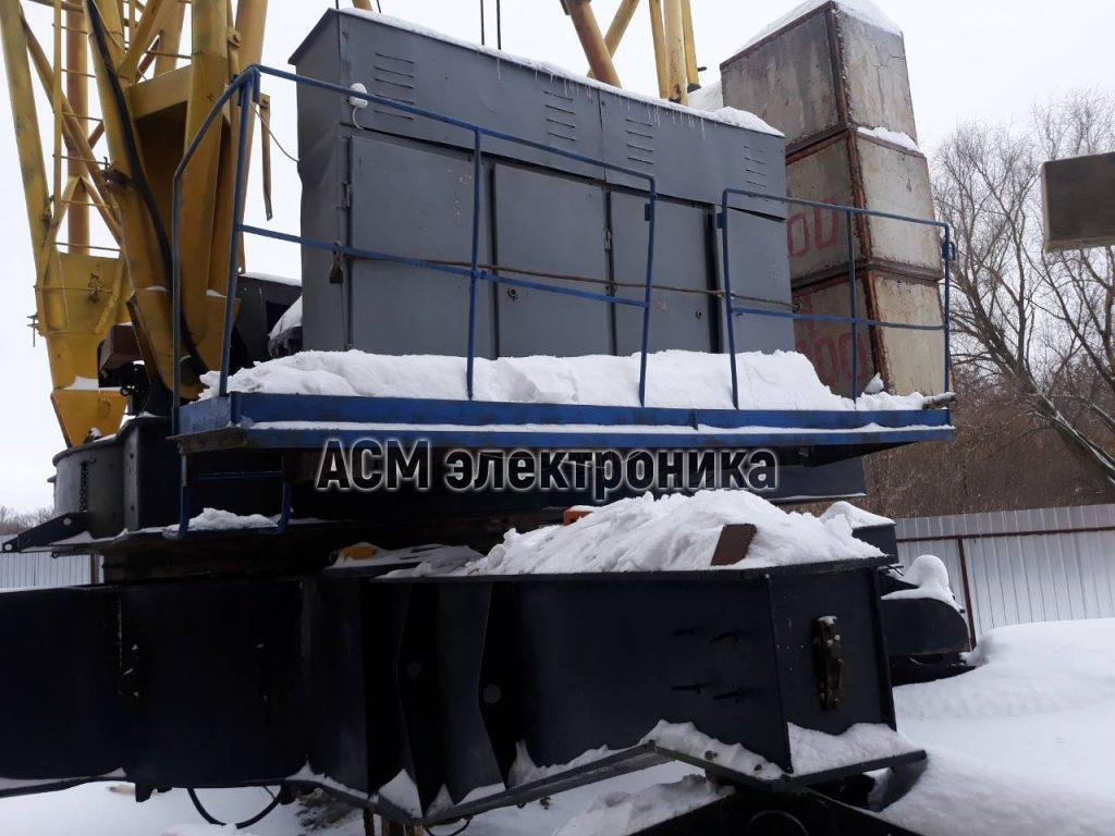 Установка преобразователя на поворот и грузовую тележку башенного крана