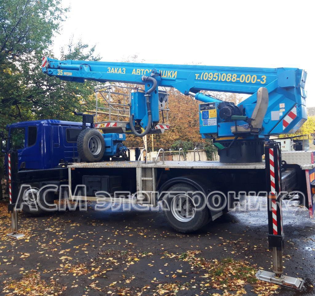 Ремонт автовышки Scania с вылетом стрелы 35 метров