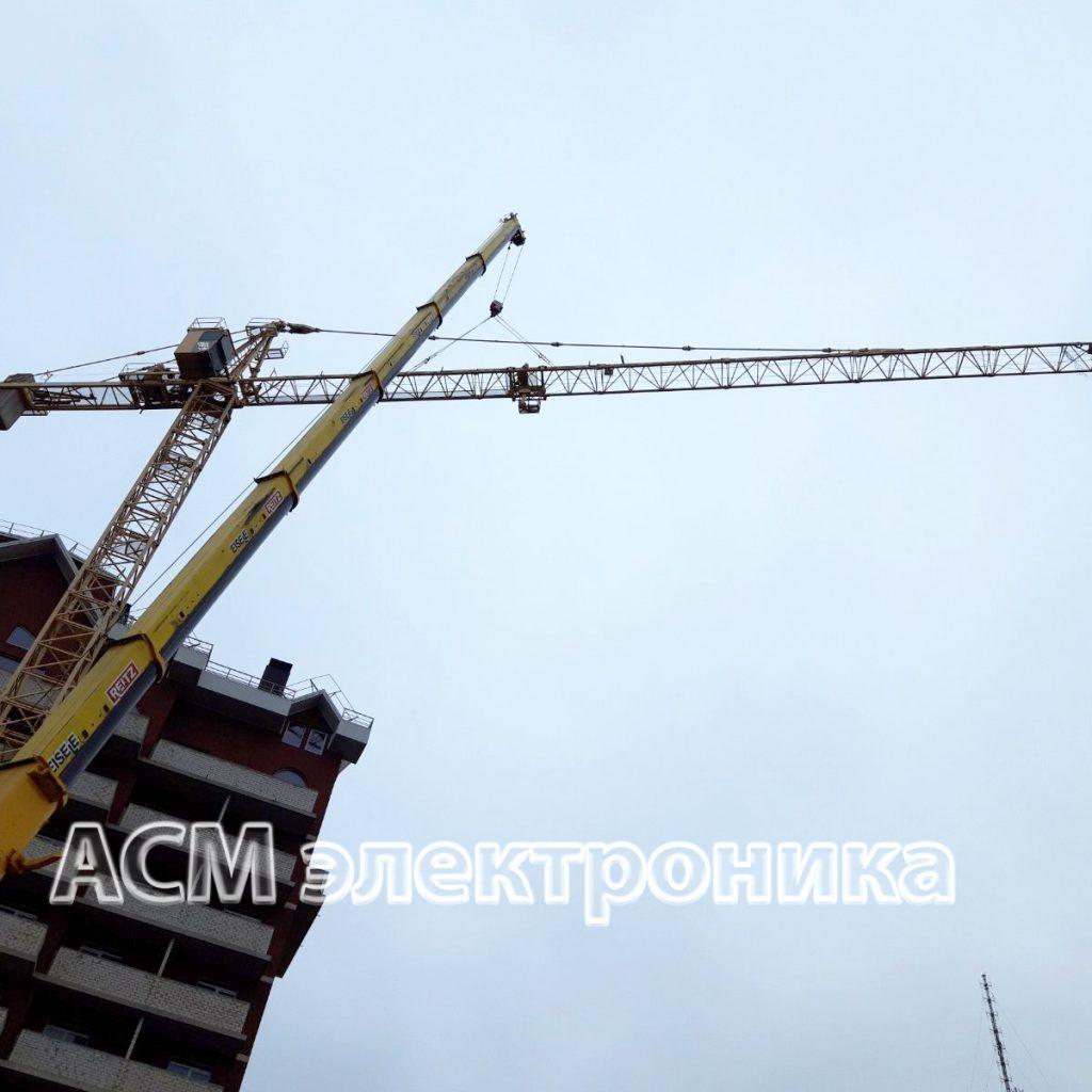 Демонтаж китайского башенного крана