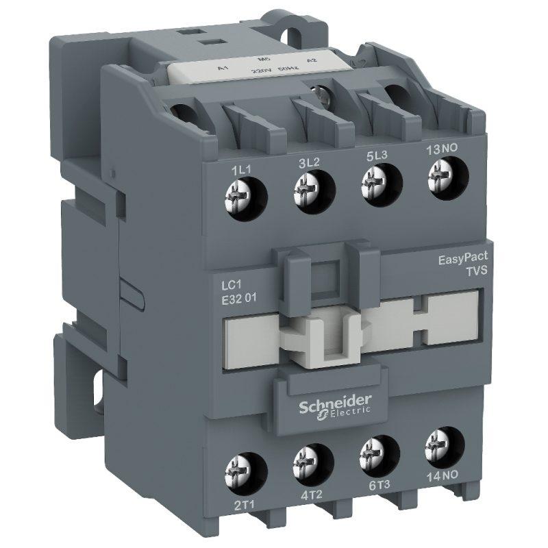 3-полюсовый контактор Schneider LC1E3201Q5 – 1 НЗ, 32А