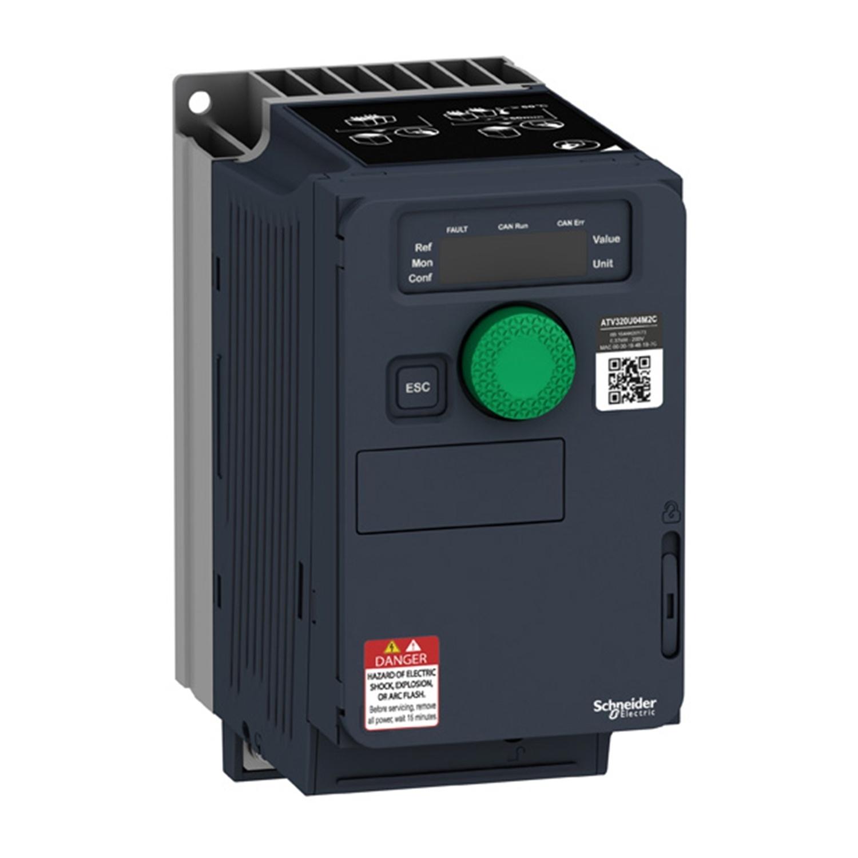 Преобразователь частоты Schneider ATV320U15M2C компактное исполнение 1.5 кВт 240В 1Ф