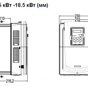 ПЧ INVT серии GD350 размеры 15 - 18,5 кВт