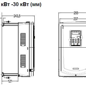 ПЧ INVT серии GD350 размеры 22 - 30 кВт