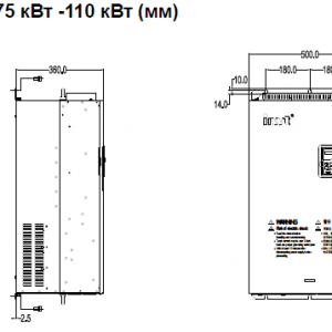 ПЧ INVT серии GD350 размеры 75 - 110 кВт (1)