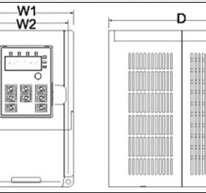 Преобразователь частоты INVT GD10-2R2G-S2-B