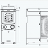 Преобразователь частоты INVT GD20-0R7G-S2 общепромышленный 0,75 кВт 220В 1Ф