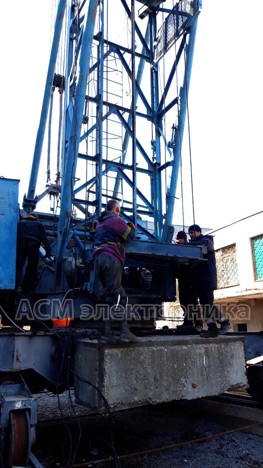 Добавление секции в башенный кран КБ-308
