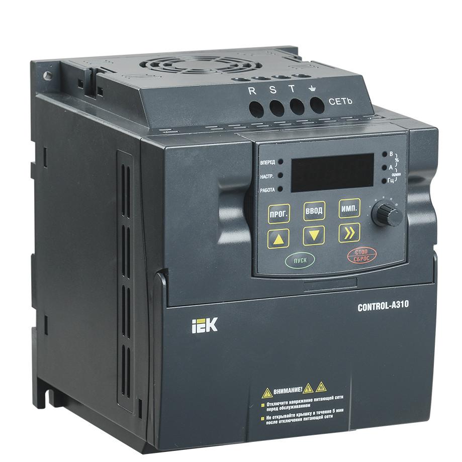 Преобразователь частоты IEK CONTROL-A310 220В, 1Ф 0,4 kW 2A