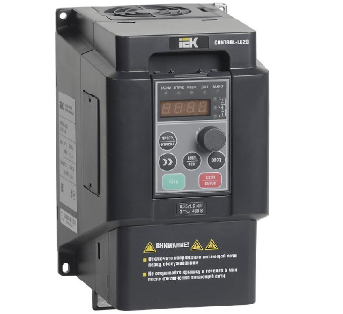 Преобразователь частоты IEK CONTROL-L620 380В, 3Ф 7,5-11kW