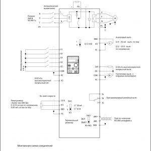 Схема подключения преобразователя частоты CONTROL-L620 380В 3Ф 0,75-1,5кВт IEK