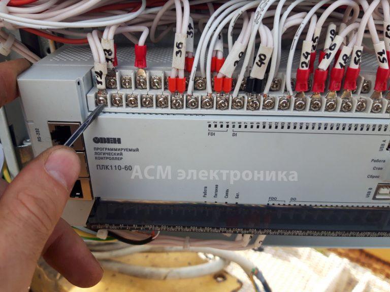 Установка преобразователей частоты на башенный кран Comedil